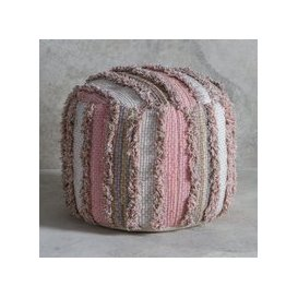 image-Gallery Opal Textured Pouffe in Blush