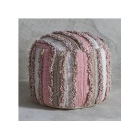 image-Gallery Direct Opal Textured Pouffe in Blush