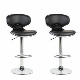 image-Carrington Height Adjustable Swivel Bar Stool Metro Lane Colour (Seat): Black