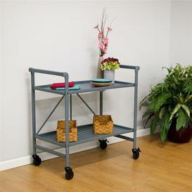 image-Greenbush Bar Cart Symple Stuff Frame Finish: Grey