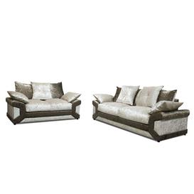 image-Landau 2 Piece Sofa Set Rosdorf Park Upholstery: Brown/Oyster