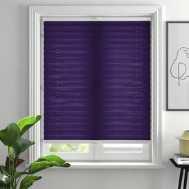 image-Top Sheer Pleated Blind Zipcode Design Size: 80cm W x 210cm H, Colour: Purple
