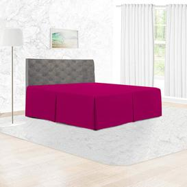 image-144 Thread Count Bed Valance Adam Home Size: Super King, Colour: Fuchsia