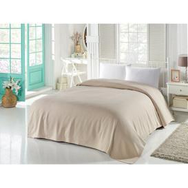image-Maggard Bedspread Ebern Designs Size: W160 x L240cm, Colour: Cornsilk