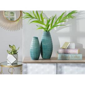 image-Woodhill Table Vase Bay Isle Home Size: 41cm H x 21cm W x 21cm D, Colour: Dark Green