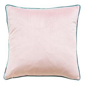 image-Essence Velvet Cushion in Blush and Teal
