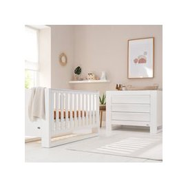 image-Tutti Bambini Rimini Cot Bed 2 Piece Nursery Set in White with Optional Free Mattress