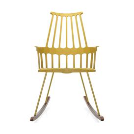 image-Kartell Comback Rocking Chair Yellow/Wood