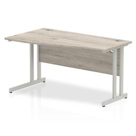 image-Zetta Executive Desk Ebern Designs Size: 73cm H x 140cm W x 100cm D, Orientation: Left, Frame Colour: Grey