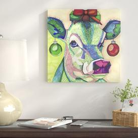image-Christmas Cow by Solveig Studio - Graphic Art Print