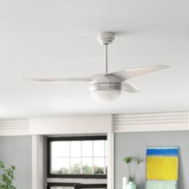 image-105cm Easy 3-Blade Ceiling Fan with Remote Brayden Studio