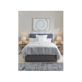 image-Indigo Washed Linen Loose Cover & Headboard Set - Double