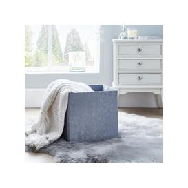 image-Foldable Crushed Velvet Silver Storage Box Silver