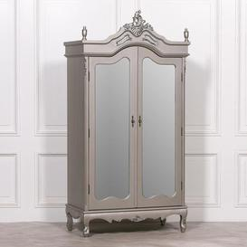 image-Maison Reproductions French Antique Armoire Double Doors Display Cabinet / Silver / Double Door