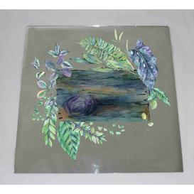 image-Green Exotic Leaves Accent Mirror East Urban Home Size: 61cm H x 61cm W