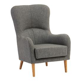 image-Giausar Fabric Upholstered Armchair In Grey