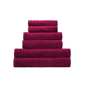 image-Brindley Hand towel August Grove Colour: Burgundy