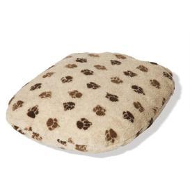 image-Sherpa Fleece Fibre Dog Bed Cover Danish Design Colour: Beige Brown, Size: Size 2  (63cm x  86cm)