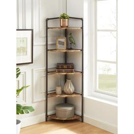 image-Burkey Corner Bookcase Blue Elephant Size: (5 Tier) 162cmH x 57.78cm W x 38.73cm D