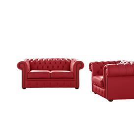 image-Belford 2 Piece Leather Sofa Set Astoria Grand Upholstery Colour: Cherry