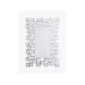 image-Brielle Rectangular Mirror, 89 x 60cm, Silver
