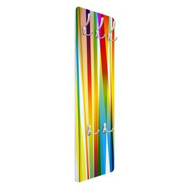 image-Trevino 5 - Hook Wall Mounted Coat Rack in Yellow/Red/Blue