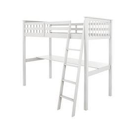image-Novara High Sleeper With Desk - White
