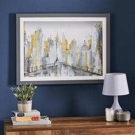 image-Abstract City Scape Framed Print Purple
