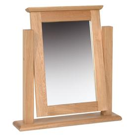 image-Devonshire New Oak Furniture Dressing Table Mirror