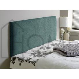 image-Plain Upholstered Headboard Home deco centre Size: Small Single (2'6), Colour: Aqua, Upholstery: Chenille