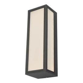 image-Dar ARH2139 Arham 1 Light Outdoor Wall Light In Grey With Frosted Glass