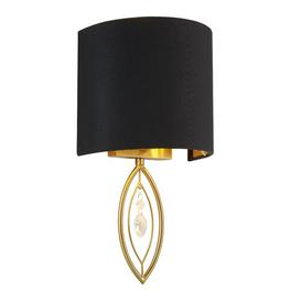 image-Catlett 1-Light Flush Mount Rosdorf Park Finish: Gold/Black