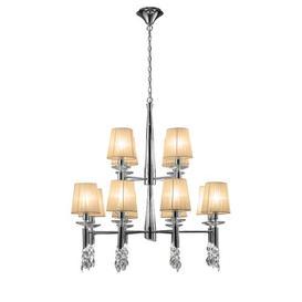 image-24-Light Shaded Chandelier Willa Arlo Interiors Finish: Soft Bronze/Polished Chrome