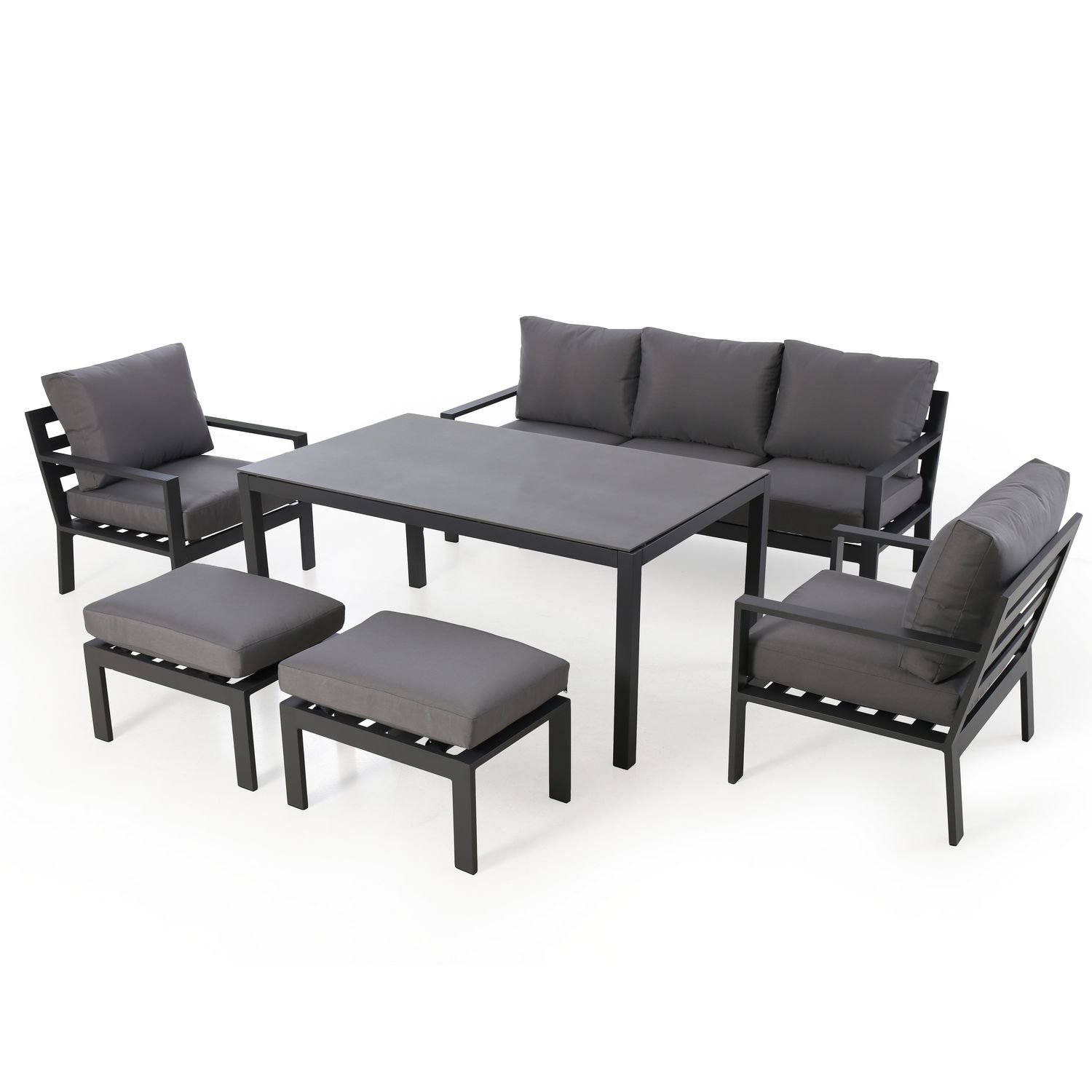 image-Maze Rattan Garden Furniture Madrid 3 Seater Sofa Set