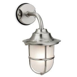 image-Moshe Outdoor Wall Lantern Breakwater Bay Fixture Finish: Nickel