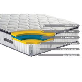 image-Horrell Sleepsoul Bliss Pillow-Top Memory Foam Mattress Symple Stuff Size: Super King (6')