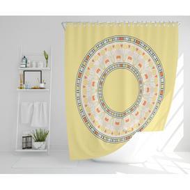 image-Rosten Polyester Shower Curtain Set Bloomsbury Market Size: 177cm H x 210cm W