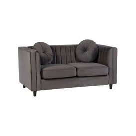 image-Lismore Contemporary 2 Seater Sofa In Grey Velvet