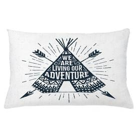 image-Ajnag Adventure Teepee with Arrows Outdoor Cushion Cover Ebern Designs Size: 40cm H x 65cm W