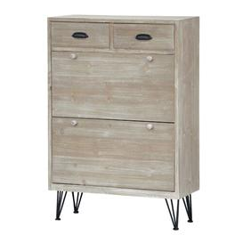 image-Bellair 12 Pair Shoe Storage Cabinet Union Rustic