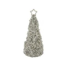 image-CIMC Grey & Cream Beaded Table Top Christmas Tree / Cream