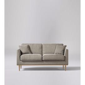 image-Swoon Norfolk Two-Seater Sofa in Llama Smart Wool With Light Feet