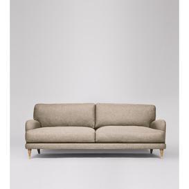 image-Swoon Charlbury Three-Seater Sofa in Llama Smart Wool With Light Feet