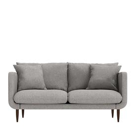 image-Swoon Freja Two-Seater Sofa in Slate Smart Leather With Light Feet