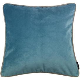image-Matt Duck Egg Blue Velvet Cushion, Cover Only / 49cm x 49cm