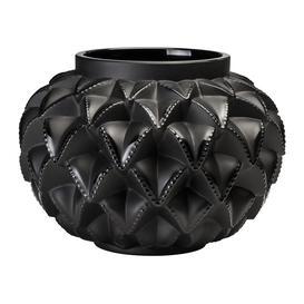 image-Lalique - Languedoc Vase - Black - Small