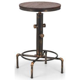 image-Julian Bowen Rockport Brushed Copper Bar Table