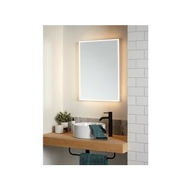 image-John Lewis & Partners Aura Wall Mounted Illuminated Bathroom Mirror, Large