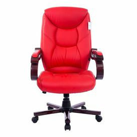 image-Swivel Executive Chair Symple Stuff Colour (Upholstery) (Upholstery): Red