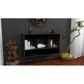 image-Mike Sideboard Brayden Studio Colour (Body/Front): Black/High Gloss Black
